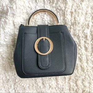 Handbags - Black Big Buckle Crossbody